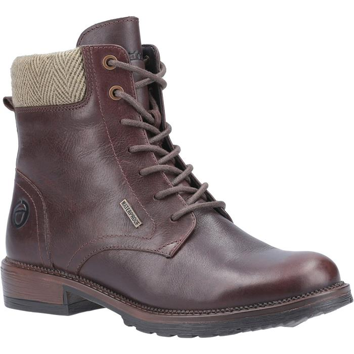 Cotswold Womens Minety Leather Boot in Brown