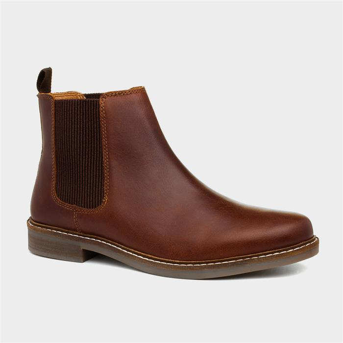 Red Tape Bamford Mens Brown Leather Chelsea Boot