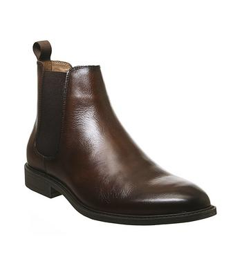 Office Bruno Chelsea Boot BROWN LEATHER