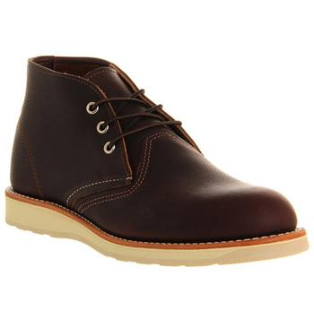 Redwing Work Chukka boots BROWN LEATHER