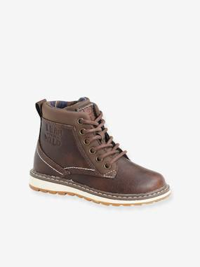 Boots with Laces & Zips for Boys, Designed for Autonomy brown