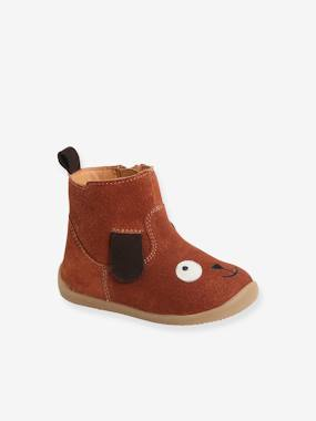 Leather Boots for Baby Boys, Designed for First Steps brown