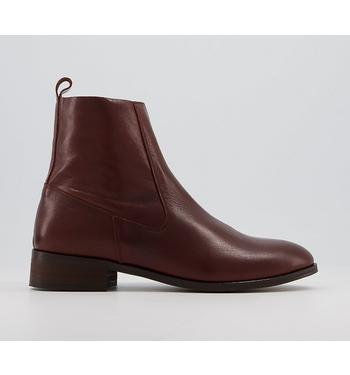 Office Apart - Unlined Boots CHOCOLATE LEATHER