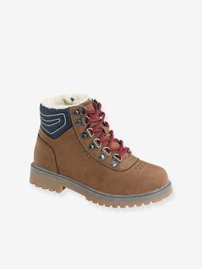Ankle Boots with Laces & Zips for Boys brown
