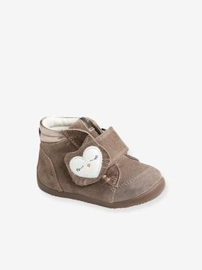 Leather Ankle Boots for Baby Girls, Designed for First Steps brown