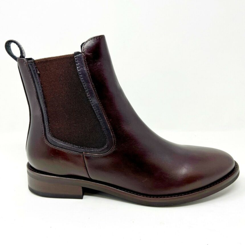 Thursday Boot Co Womens Brown Duchess Handcrafted Leather Chelsea Boots