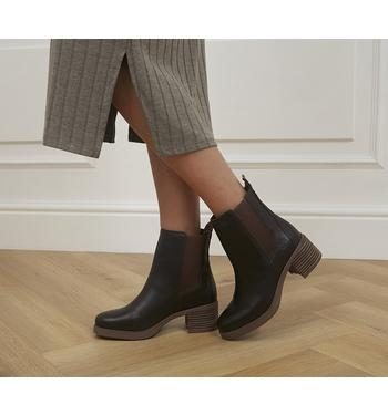 Timberland Dalston Vibe Heeled Chelsea Boots MEDIUM BROWN